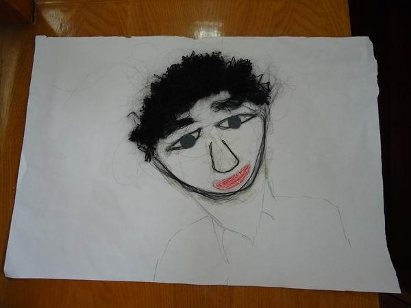 ,其他部分用画笔画的头像-如何学以致用,使project课生动有趣